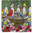 Colourful Spring Garden Bird Bath