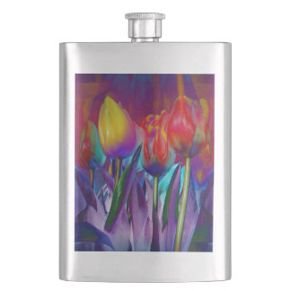 Colourful Spring Hip Flask