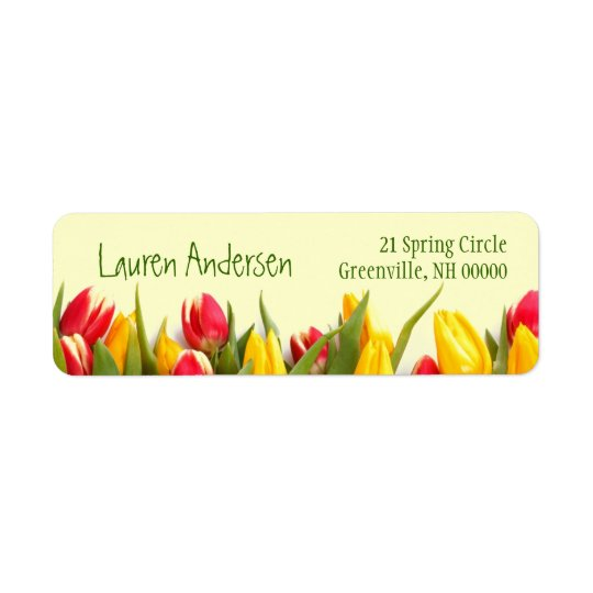 Colourful Spring Tulips Floral Personal Address