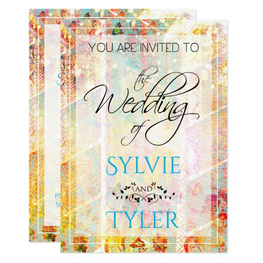 Colourful Springtime Sparkle Boho Card