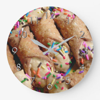 Colourful Sprinkles on Italian Cannoli Wall Clock