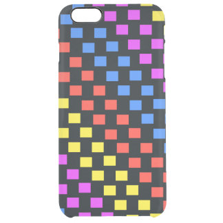 Colourful Squares Clear iPhone 6 Plus Case