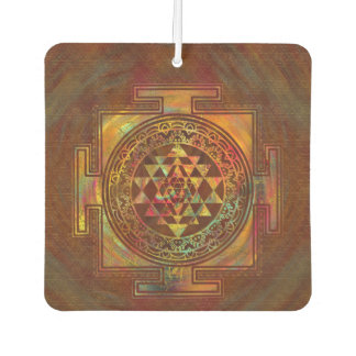 Colourful Sri Yantra  / Sri Chakra Air Freshener