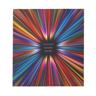 Colourful starburst explosion notepads