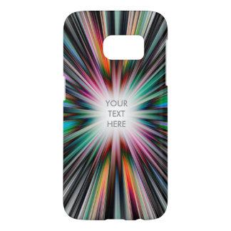 Colourful starburst pattern samsung galaxy s7 case