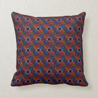 Colourful starburst pattern throw pillow