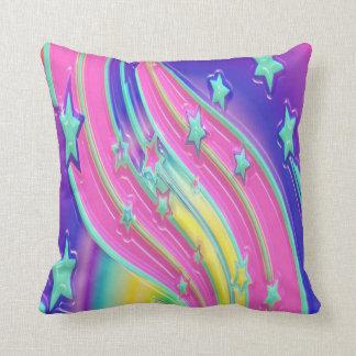 colourful stars throw pillow