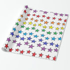 Colourful Stars Wrapping Paper