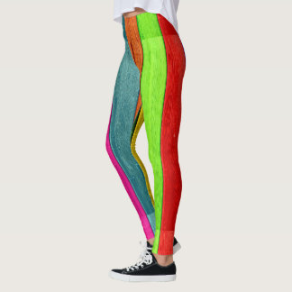Colourful striped leggings