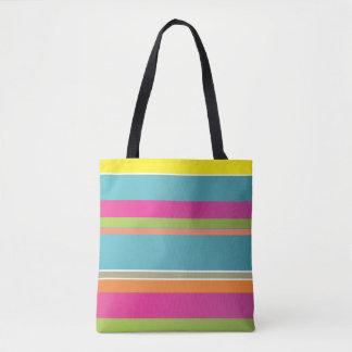 Colourful Striped Tote Bag