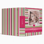Colourful Stripes Baby Girl Photo Album