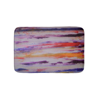 Colourful stripes bath mat