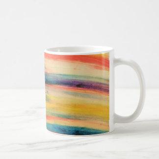 Colourful stripes coffee mug