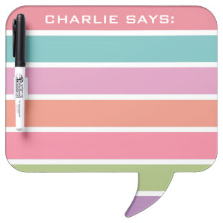 Dry Erase Boards - Colorful Stripes custom text message boards