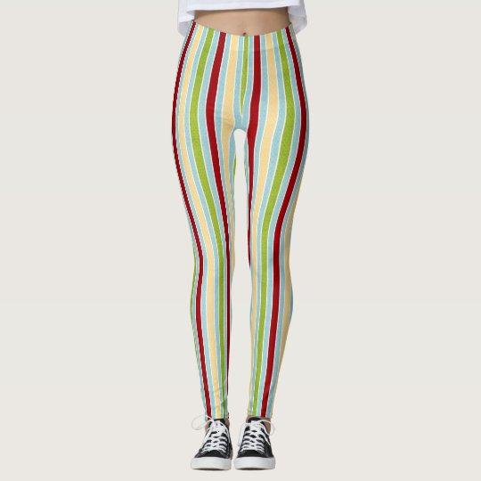 Colourful Stripes Leggings