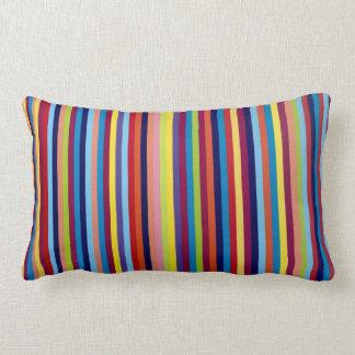 Colourful stripes lumbar pillow