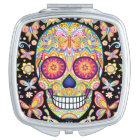 Colourful Sugar Skull Compact Mirror
