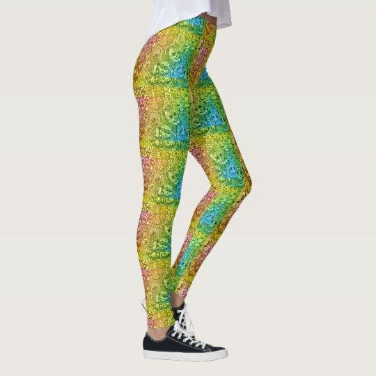 Colourful Sugar Skull Patterned Leggings
