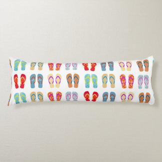 Colourful Summer Beach Flip Flops Body Pillow