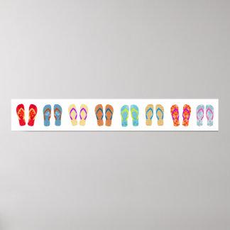 Colourful Summer Beach Flip Flops Horizontal