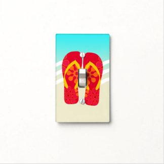 Colourful Summer Beach Flip Flops Light Switch