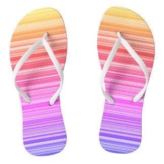 Colourful summer flip flops