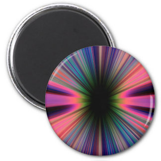 Colourful sunburst rays 2 inch round magnet