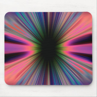 Colourful sunburst rays mouse pad