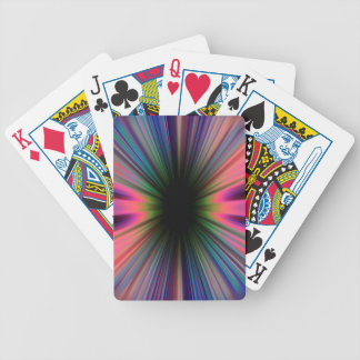 Colourful sunburst rays poker deck