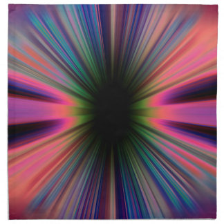 Colourful sunburst rays printed napkin