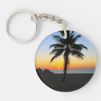 Colourful Sunrise Double-Sided Round Acrylic Keychain