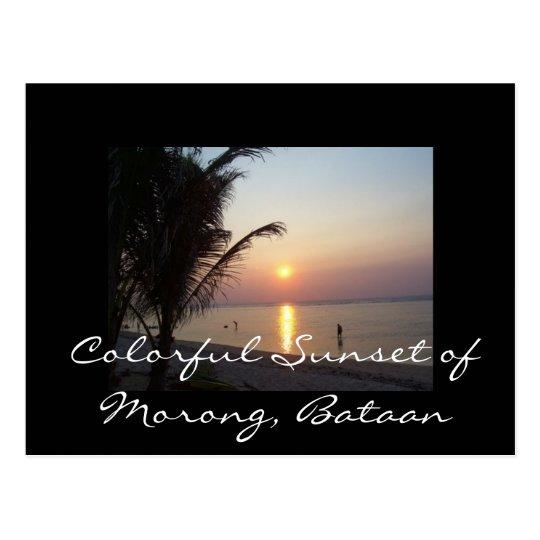 Colourful Sunset of Morong, Bataan Postcard