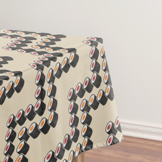 Colourful Sushi Chevron Tablecloth