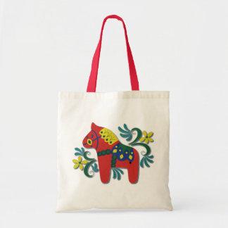 Colourful Swedish Dala Horse Tote Bag