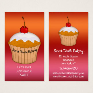 Colourful Sweet Cupcake Bakery Business Card