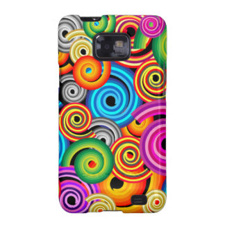 Colourful Swirls Galaxy SII Covers