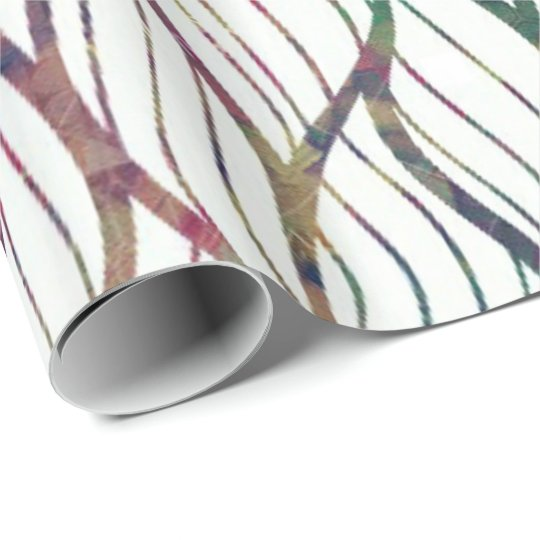 Colourful Swirly Lined Wrapping Paper