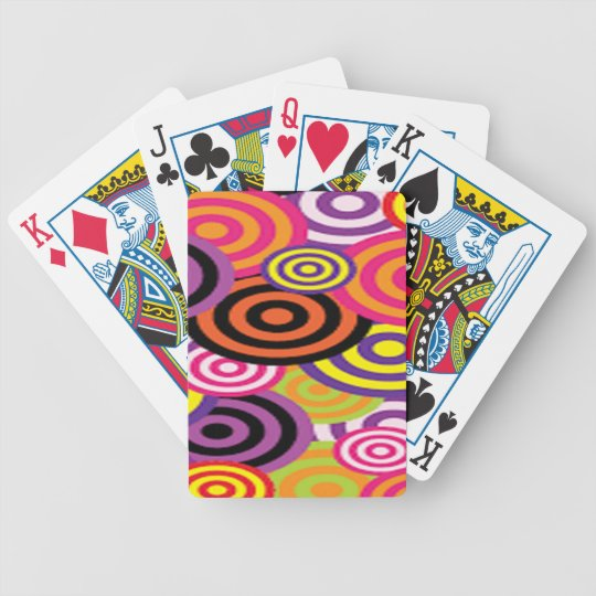 Colourful Target Circles Bicycle Playing Cards