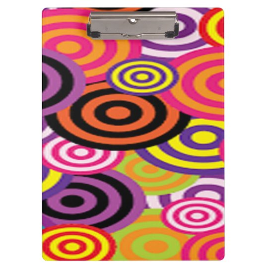 Colourful Target Circles Clipboard