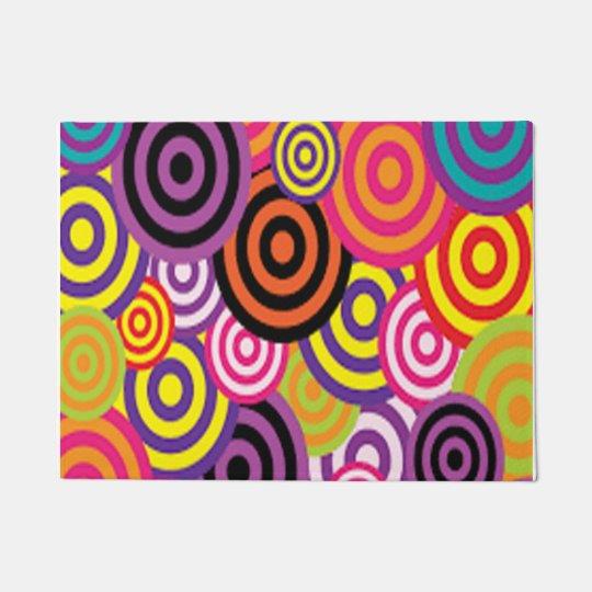 Colourful Target Circles Doormat