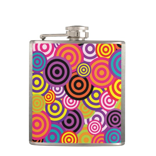 Colourful Target Circles Flasks