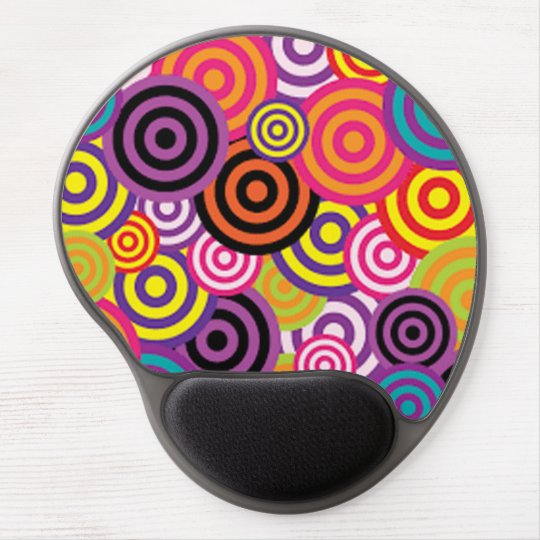 Colourful Target Circles Gel Mouse Pad