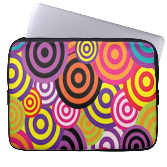 Colourful Target Circles Laptop Sleeve