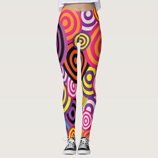 Colourful Target Circles Leggings