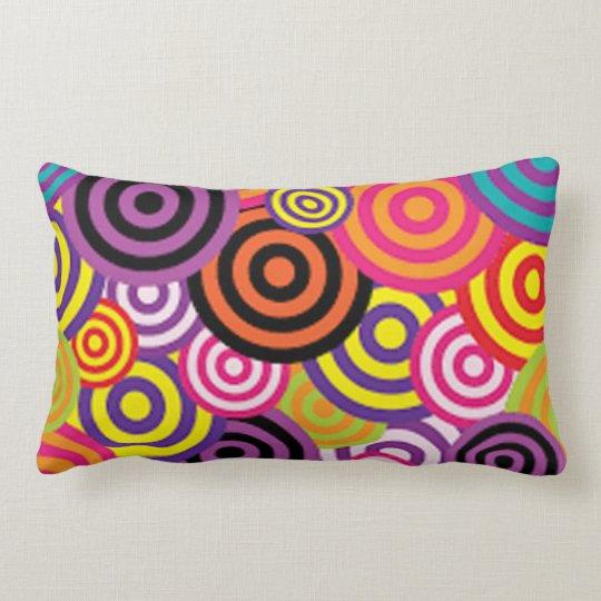 Colourful Target Circles Lumbar Pillow