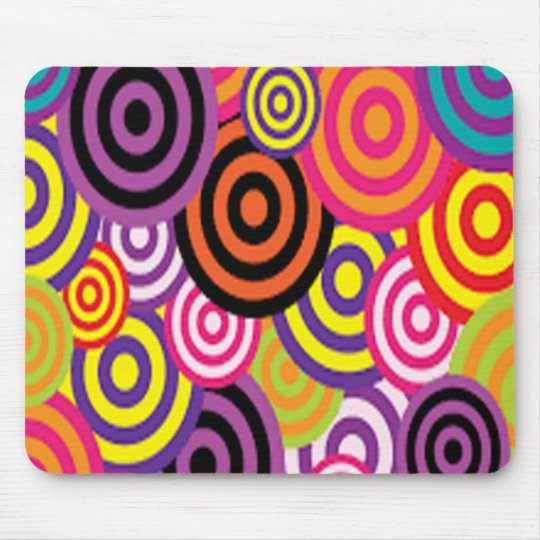 Colourful Target Circles Mouse Pad
