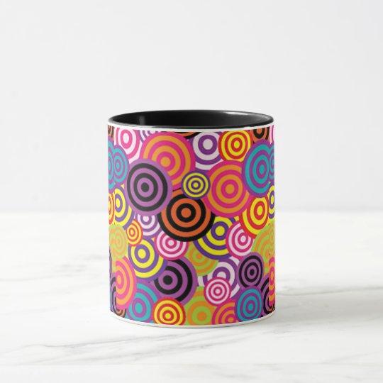 Colourful Target Circles Mug