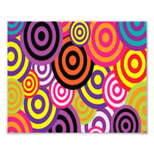 Colourful Target Circles Photo Print
