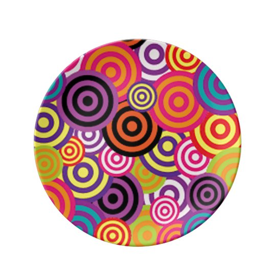 Colourful Target Circles Plate