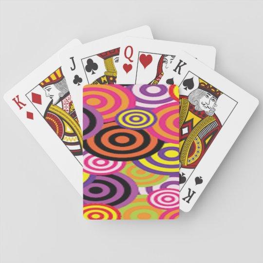 Colourful Target Circles Poker Deck